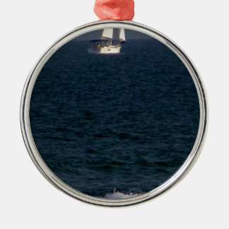 sailing with friends.JPG Metal Ornament