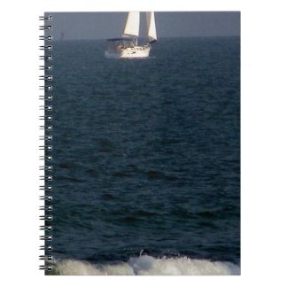 sailing with friends.JPG Spiral Notebook