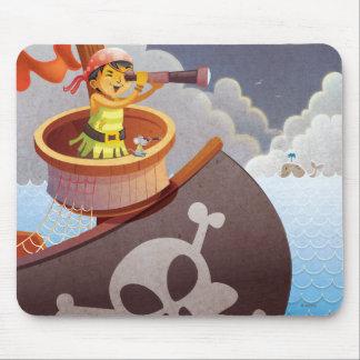 Sailing with Pirates Mouse Pads