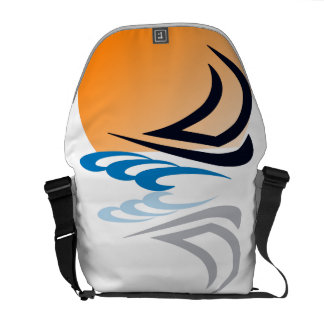 Sailing Yacht in the Sun Courier Bag