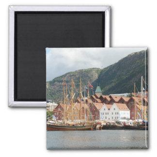 Sailingships at Bryggen Magnet