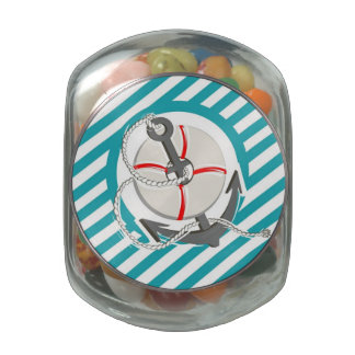 Sailor Anchor Glass Jar