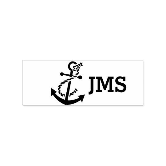 Sailor Anchor Monogram Wood Stamp