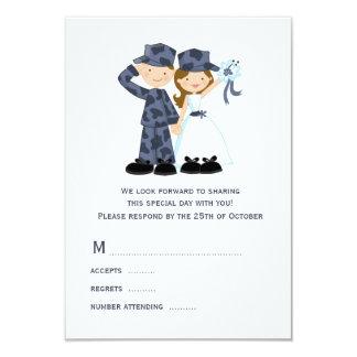 "Sailor and Bride Wedding RSVP Cards 3.5"" X 5"" Invitation Card"