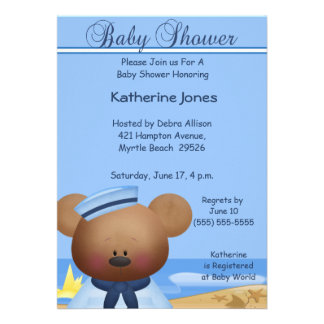 Sailor Boy Baby Shower Invitation