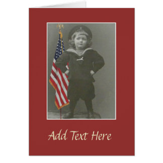 Sailor Child with American Play Customize Card