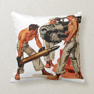 Sailor Hunks Loading the Big Gun Cushion