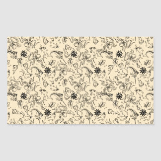 Sailor Jerry Pattern Rectangular Sticker