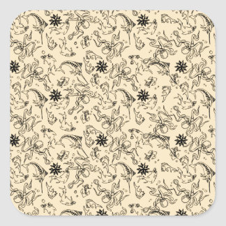 Sailor Jerry Pattern Square Sticker