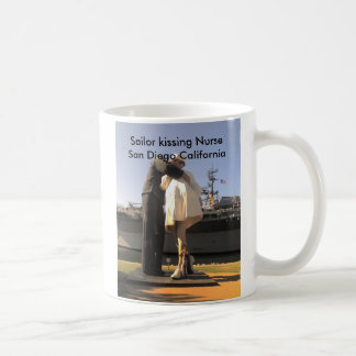 Sailor Kissing Nurse in San Diego Coffee Mug
