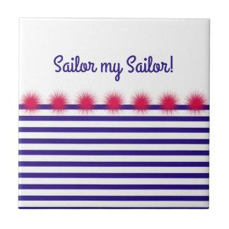 sailor my sailor small square tile
