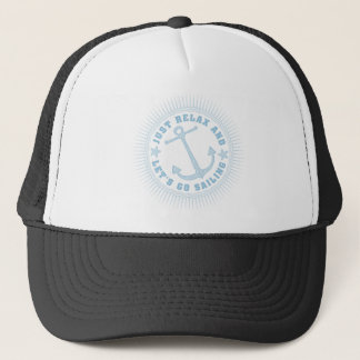 SAILOR ONE WITH ANCHOR TRUCKER HAT
