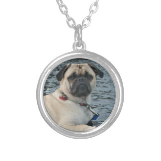 Sailor Pug Dog Silver Plated Necklace