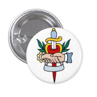 Sailor Tattoo - Handshake Dagger - Button
