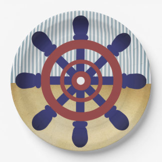 Sailor Wheel paper plate vintage