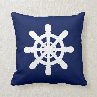 Sailor Wheel pillow blue