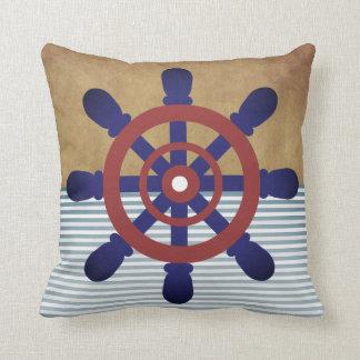 Sailor Wheel vintage throw pillow