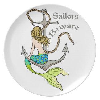 Sailors Beware Plate