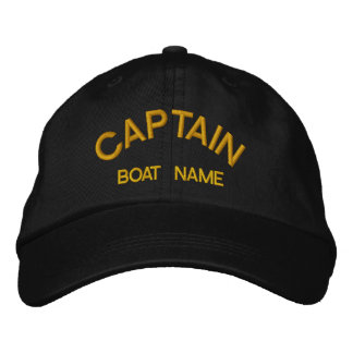 Sailors CAPTAIN & BOAT NAME Hat