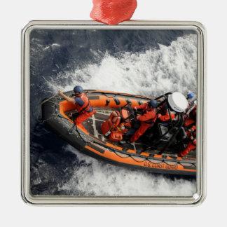 Sailors conducting small boat training christmas ornaments