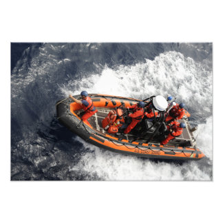 Sailors conducting small boat training art photo