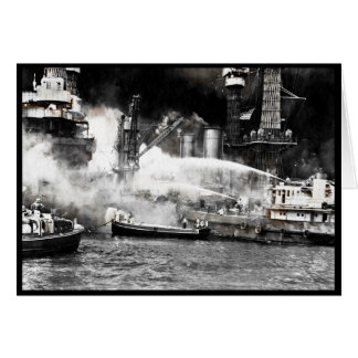 Sailors Fighting Fires on Shipboard Card
