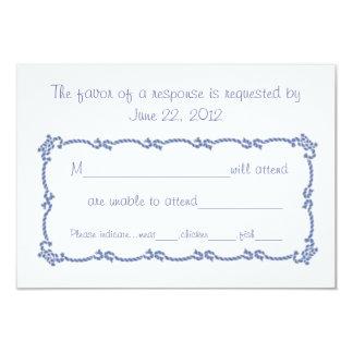 Sailors Knot RSVP 9 Cm X 13 Cm Invitation Card