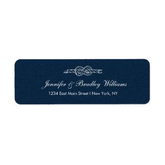 Sailor's Knot Wedding Return Address Label