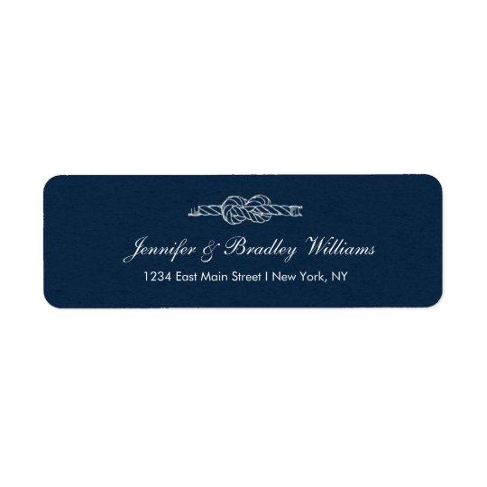 Sailor's Knot Wedding Return Address Label