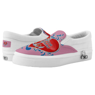 Sailor's Love Heart & Anchor Slip-On US-Women Printed Shoes