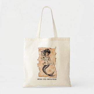 Sailors Ruin, mermaid sailor tattoo Budget Tote Bag