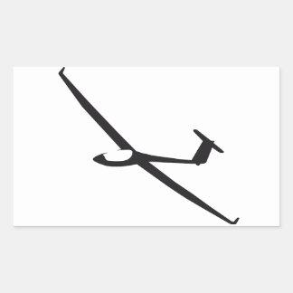 Sailplane Rectangular Sticker