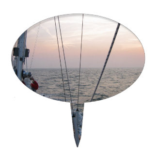 Sails at sun perdition cake toppers
