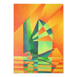 Sails at Sunrise 13 Cm X 18 Cm Invitation Card