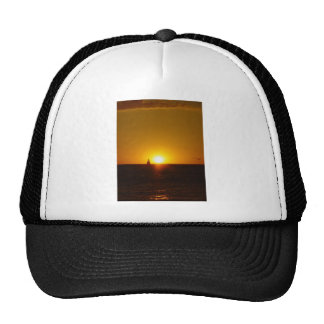 Sails In The Sunset On Mullalloo Beach At Western Trucker Hat