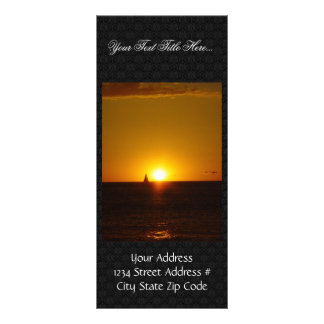Sails In The Sunset On Mullalloo Beach At Western Full Color Rack Card