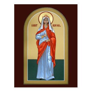 Saint Abigail Prayer Card Postcards