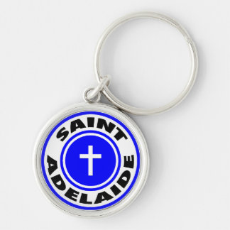 Saint Adelaide Silver-Colored Round Key Ring
