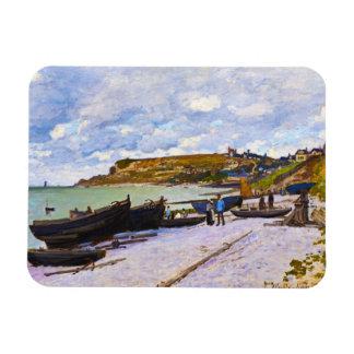 Saint-Adresse, Fishing Boats on the Shore Monet Rectangular Photo Magnet