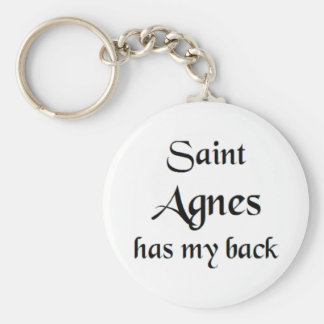 Saint Agnes Key Ring