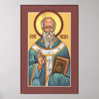 Saint Aidan Poster