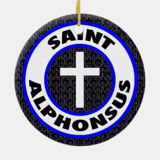 Saint Alphonsus Round Ceramic Decoration