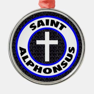 Saint Alphonsus Silver-Colored Round Decoration
