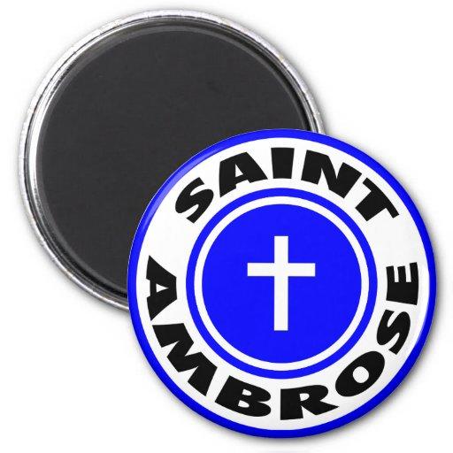 Saint Ambrose Refrigerator Magnet