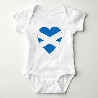 Saint Andrew Cross Flag Heart (Scotland) Baby Bodysuit