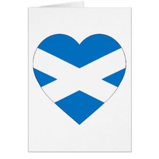 Saint Andrew Cross Flag Heart (Scotland) Card