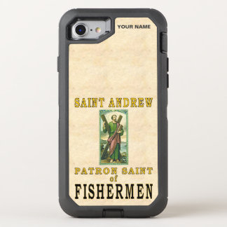 SAINT ANDREW (Patron Saint of Fishermen) OtterBox Defender iPhone 8/7 Case