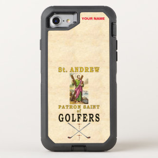 SAINT ANDREW (Patron Saint of Golfers) OtterBox Defender iPhone 7 Case