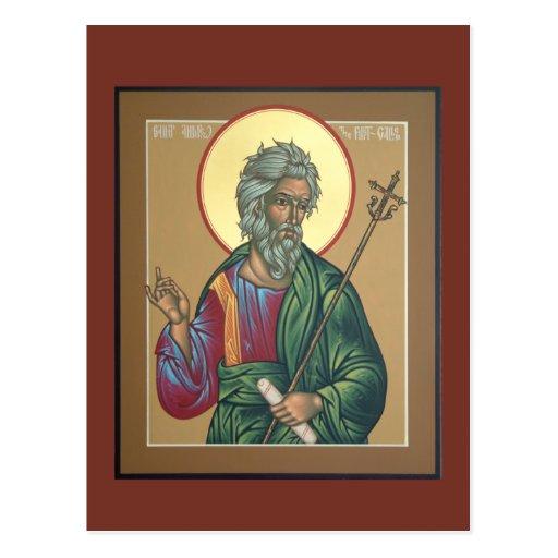 Saint Andrew Prayer Card Postcards