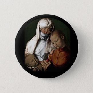 Saint Anne Admiring Baby Jesus 6 Cm Round Badge